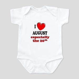 August 20th Infant Bodysuit