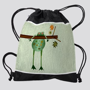 Of Trees And Frogs Drawstring Bag