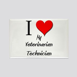 I Love My Veterinarian Technician Rectangle Magnet