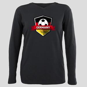 Creative soccer Germany Plus Size Long Sleeve Tee