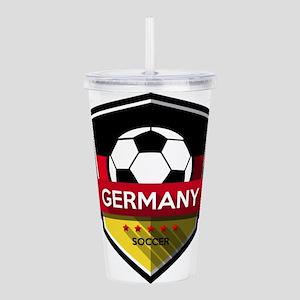 Creative soccer German Acrylic Double-wall Tumbler
