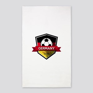 Creative soccer Germany label Area Rug