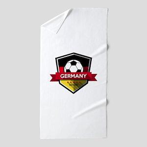Creative soccer Germany label Beach Towel