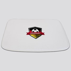Creative soccer Germany label Bathmat