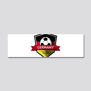 Creative soccer Germany label Car Magnet 10 x 3