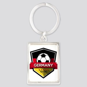 Creative soccer Germany label Keychains
