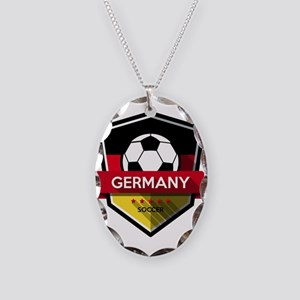 Creative soccer Germany label Necklace Oval Charm