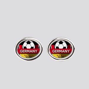 Creative soccer Germany label Oval Cufflinks