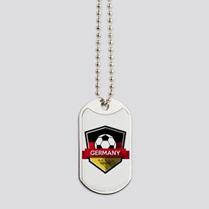 Creative soccer Germany label Dog Tags