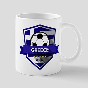 Creative soccer Greece label Mugs
