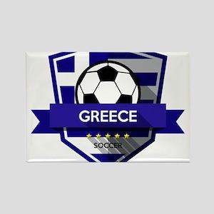 Creative soccer Greece label Magnets