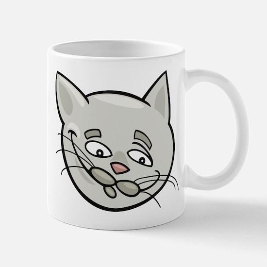 Cat sad face head art Mugs