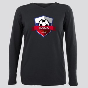 Creative soccer Russia l Plus Size Long Sleeve Tee