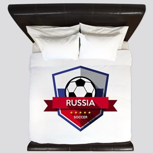 Creative soccer Russia label King Duvet