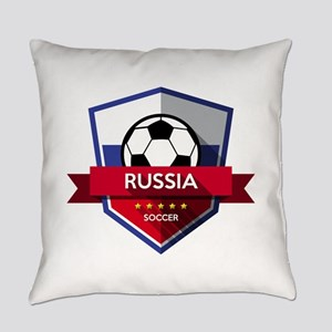 Creative soccer Russia label Everyday Pillow