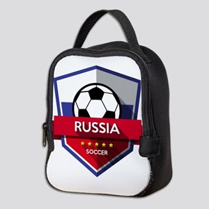 Creative soccer Russia label Neoprene Lunch Bag