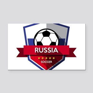 Creative soccer Russia label Rectangle Car Magnet