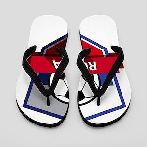 Creative soccer Russia label Flip Flops