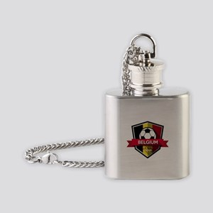 Creative soccer Belgium label Flask Necklace