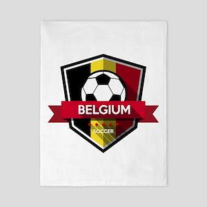 Creative soccer Belgium label Twin Duvet
