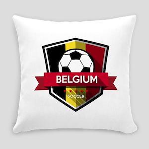 Creative soccer Belgium label Everyday Pillow