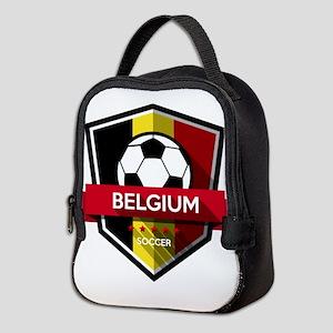 Creative soccer Belgium label Neoprene Lunch Bag