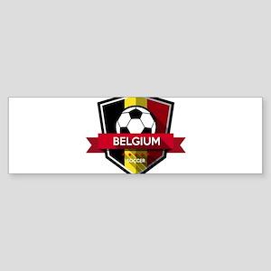 Creative soccer Belgium label Bumper Sticker