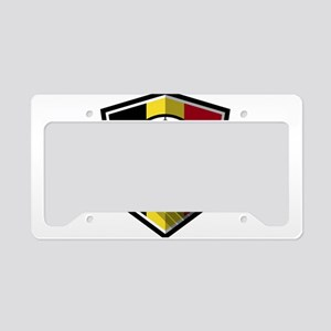 Creative soccer Belgium label License Plate Holder