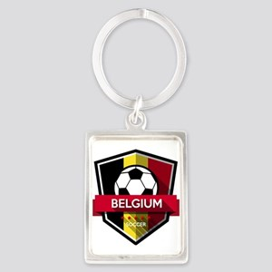 Creative soccer Belgium label Keychains