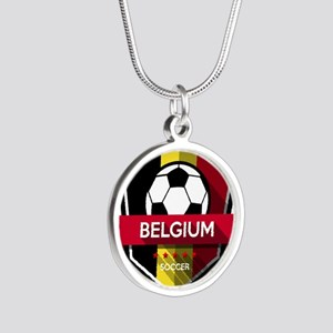 Creative soccer Belgium label Necklaces