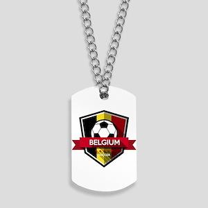 Creative soccer Belgium label Dog Tags