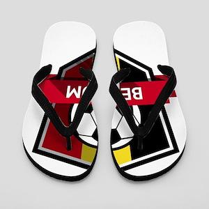 Creative soccer Belgium label Flip Flops
