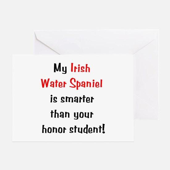 My Irish Water Spaniel is smarter... Greeting Card