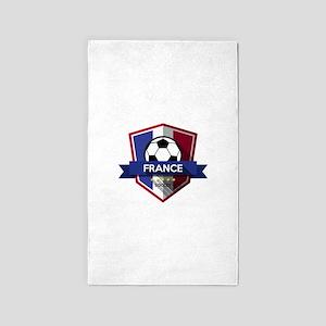 Creative soccer France label Area Rug