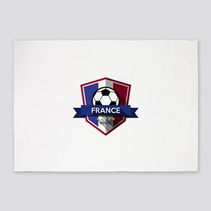 Creative soccer France label 5'x7'Area Rug