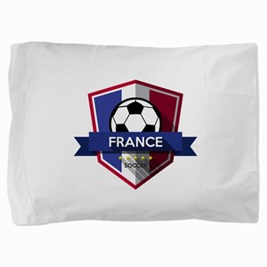 Creative soccer France label Pillow Sham