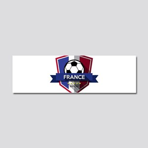 Creative soccer France label Car Magnet 10 x 3