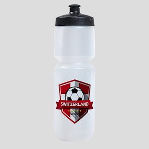 Creative soccer Switzerland label Sports Bottle