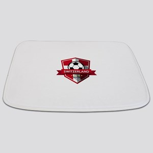 Creative soccer Switzerland label Bathmat