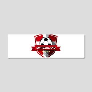 Creative soccer Switzerland labe Car Magnet 10 x 3