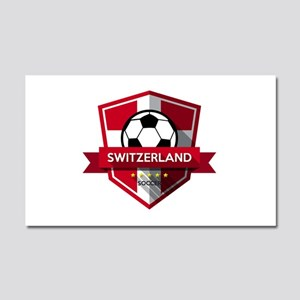 Creative soccer Switzerland lab Car Magnet 20 x 12