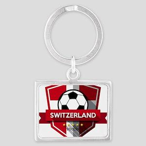 Creative soccer Switzerland label Keychains