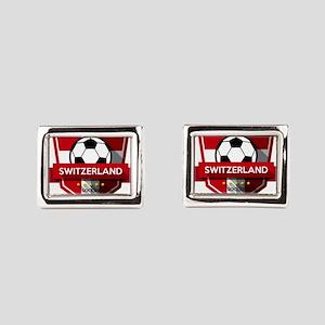 Creative soccer Switzerland Rectangular Cufflinks