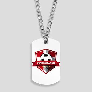 Creative soccer Switzerland label Dog Tags