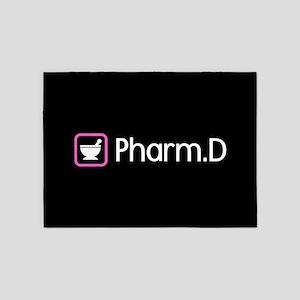 Pharm.D (Pink) 5'x7'Area Rug