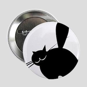 "Black fat cat side view 2.25"" Button"