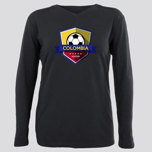 Creative soccer Colombia Plus Size Long Sleeve Tee
