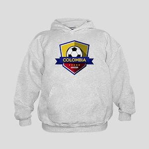 Creative soccer Colombia label Kids Hoodie
