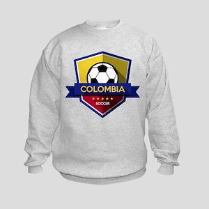 Creative soccer Colombia label Kids Sweatshirt