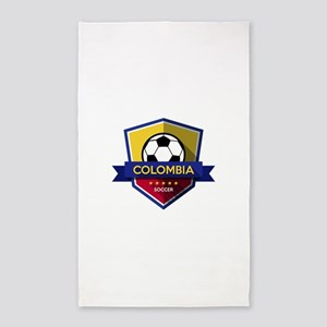 Creative soccer Colombia label Area Rug